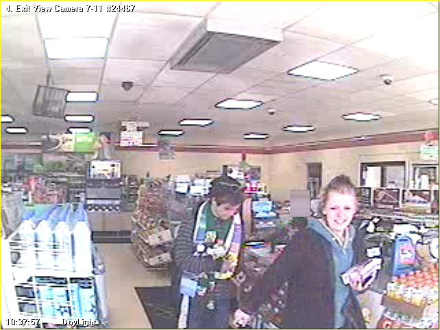 Suspects using credit card